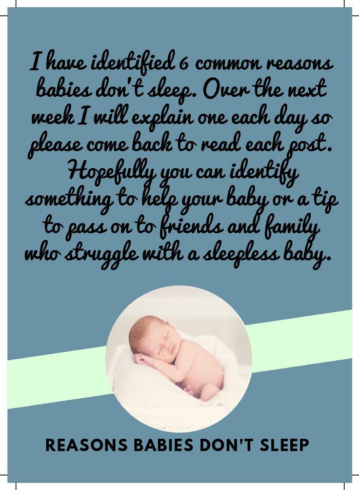 Reasons Babies Don't Sleep